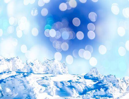 wintery christmas background with bokeh Фото со стока