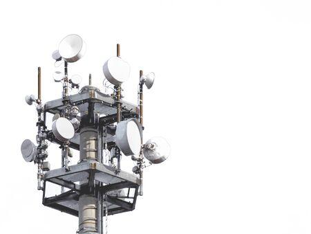 Radio mast isolated on white background