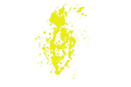 Splash in yellow on white background