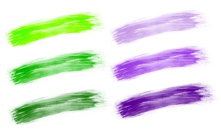 Brush stroke color isolated white background Фото со стока