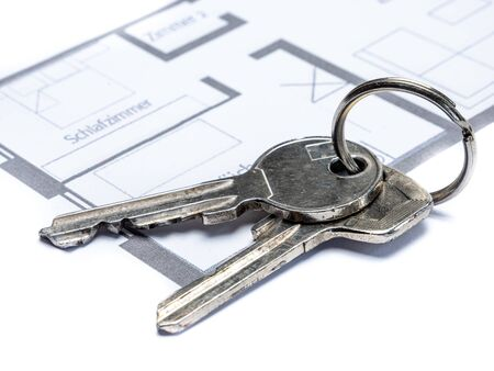Own apartment floor plan with keychain