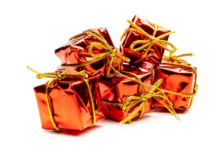 Many gifts isolated template Christmas time