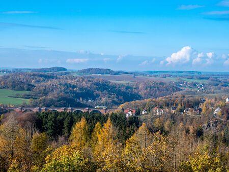 Landscape in Vogtland Saxony, Autumn