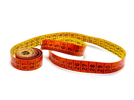 old gdr measuring tape isolated