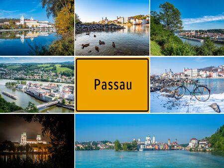 Postcard city Passau in Bavaria Germany