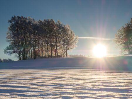 Winter landscape Erzgebirge in Germany Banque d'images