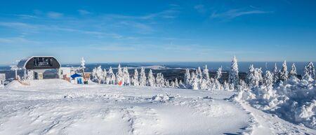 Panorama Winter landscape in the Erzgebirge