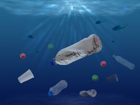 Plastic waste problem in the world's oceans