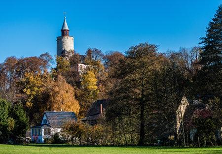 Castle Posterstein in autumn