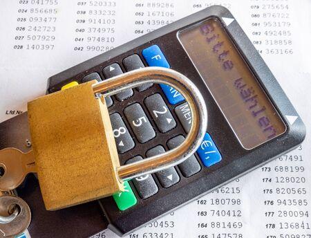 Tan generator for online banking with padlock