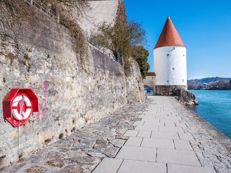 Schaibling Tower from Passau in Germany
