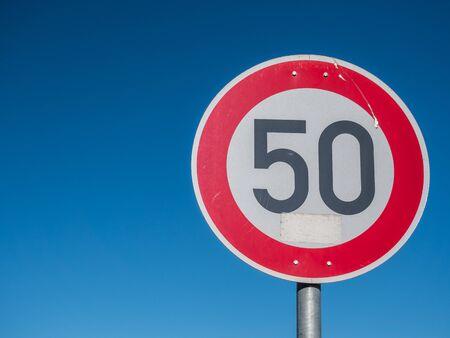 50 road sign in german