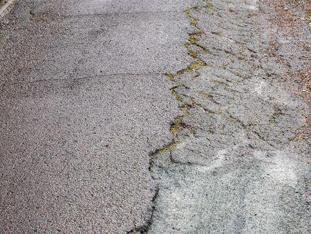 Road damage on a street