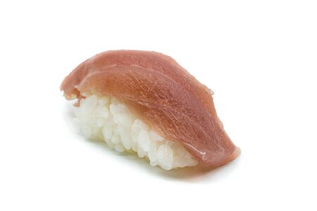 Nigiri sushi with tuna isolated on white background