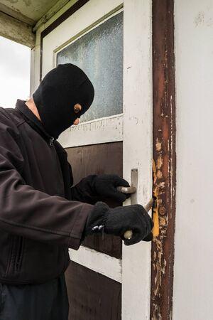 Burglars breaking into a gazebo