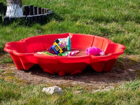 Sandpit in a garden for Kids