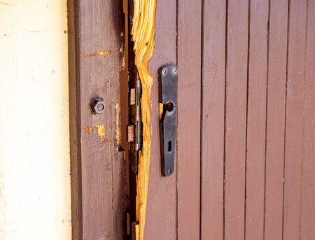 Burglary broken door gazebo background