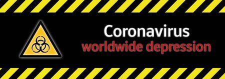 Banner Coronavirus worldwide drepression background Stock fotó - 142623638