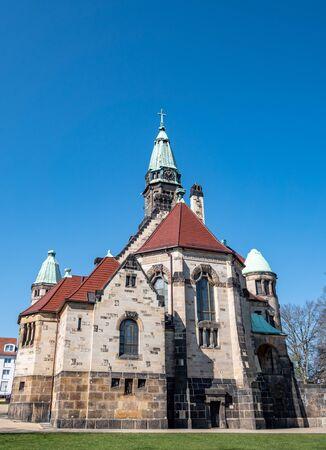 Luther Church in Zwickau Saxony Eastern Germany Stock Photo
