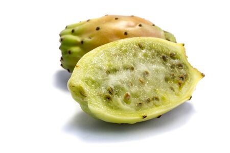Prickly pears isolated on white background Stock Photo