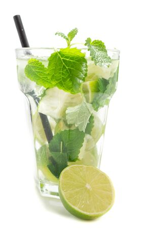 mojito cocktail isolated on white background Reklamní fotografie
