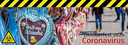 Banner Oktoberfest 2020 Coronavirus background 免版税图像 - 146541212