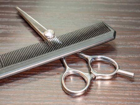 Comb and scissors hair salon