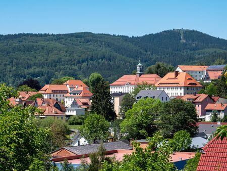 View over Zella-Mehlis in Thuringia