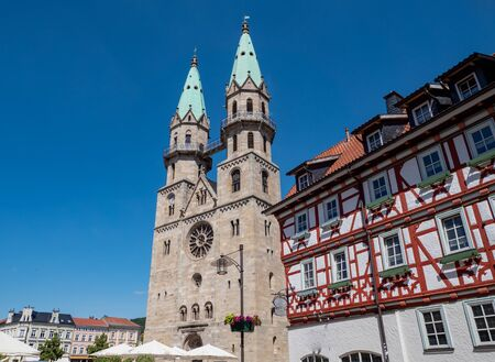 City church of Meiningen in Thuringia in germany