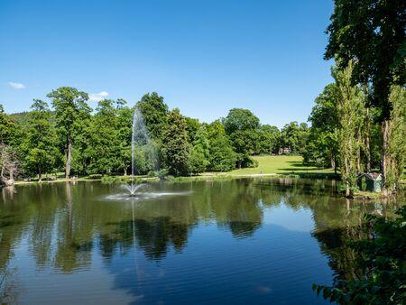 City park of Meiningen in Thuringia