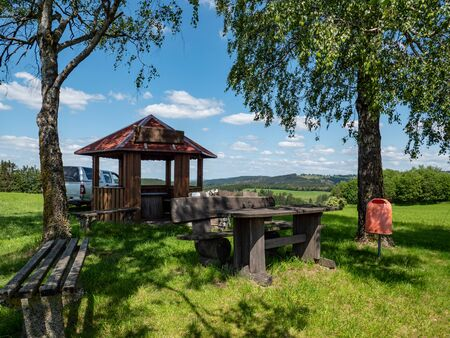 Rest area in the Thuringian Forest in germany Stock fotó