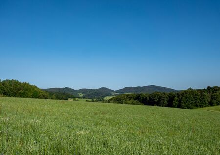 Thuringian forest mountains in eastern Germany