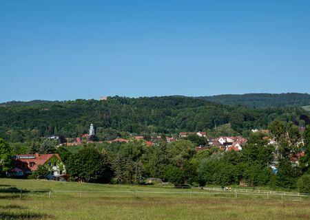 View over Bad Liebenstein in Thuringia
