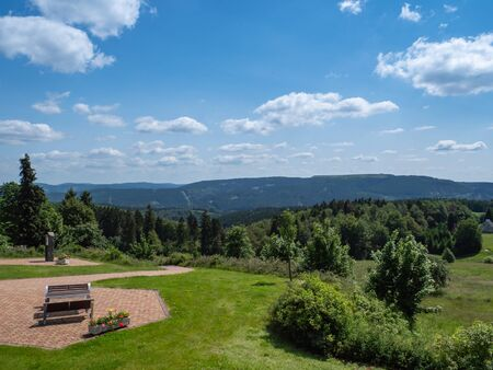 Panoramic view over the Thuringian Forest in Germany