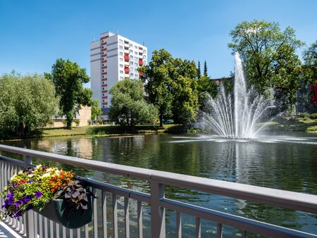 Fountain Stadtpark Suhl in Thuringia in Germany Stock fotó