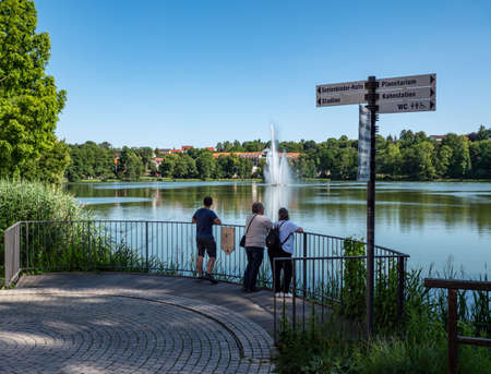 Bad Salzunger Burgsee in Thuringia
