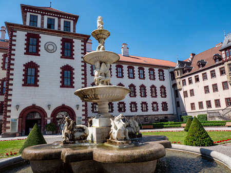 Town hall and museum in Meiningen Thuringia