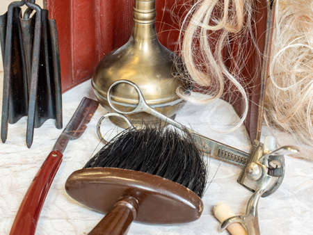 Antique hairdressing tool of yesteryear