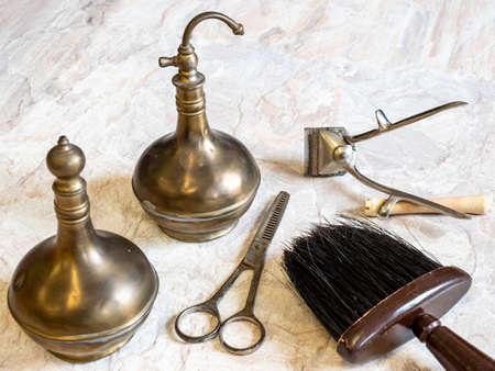 Tool in hairdressing craft vintage