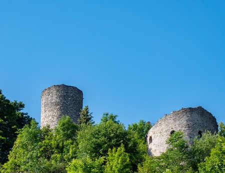 Lobenstein castle ruin Thuringia Germany