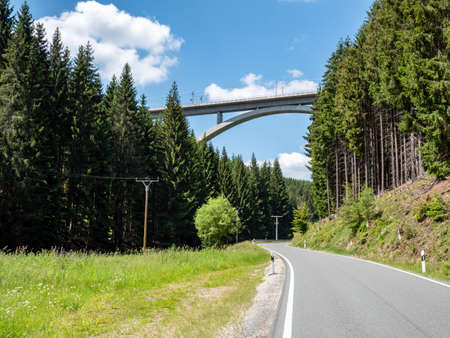 Country road in the Thuringian Forest Germany Stock fotó