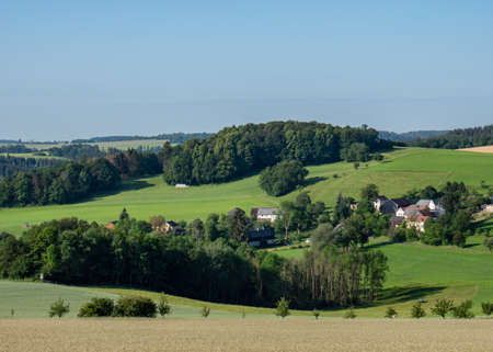 View over the Vogtland in Saxony