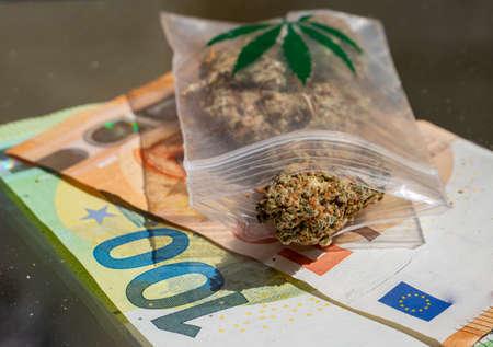 Drug trafficking cannabis marijuana euro bills