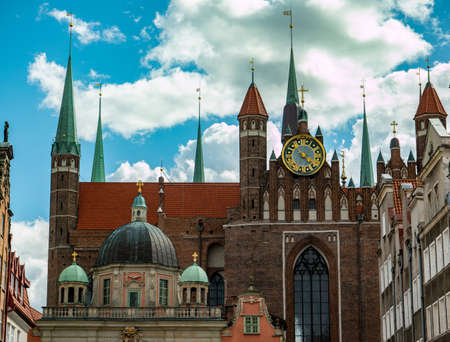 old cathedral gdansk church in poland Banco de Imagens
