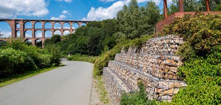 goeltzschtalbruecke bridge in the park