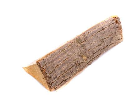Wooden log isolated on white background Standard-Bild