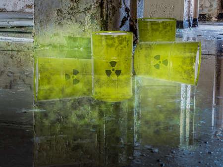 Nuclear waste in barrels environmental destruction