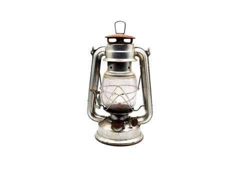 Miner's lamp isolated on white background Standard-Bild