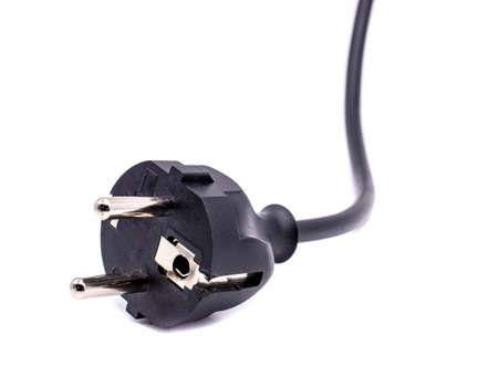 black power plug isolated on white background