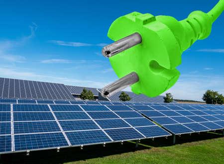 green electricity solar energy renewable energy Standard-Bild